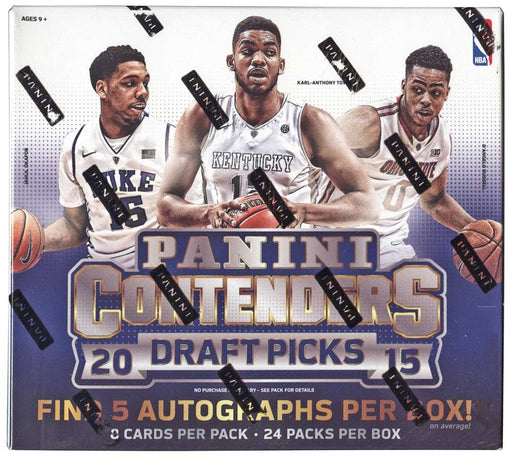 2015/16 Panini Contenders Draft Picks Basketball Hobby Box-Cherry Collectables