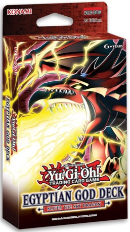 YU-GI-OH! TCG Egyptian Gods Structure Deck Slifer (Pre Order Jun 10)-Cherry Collectables
