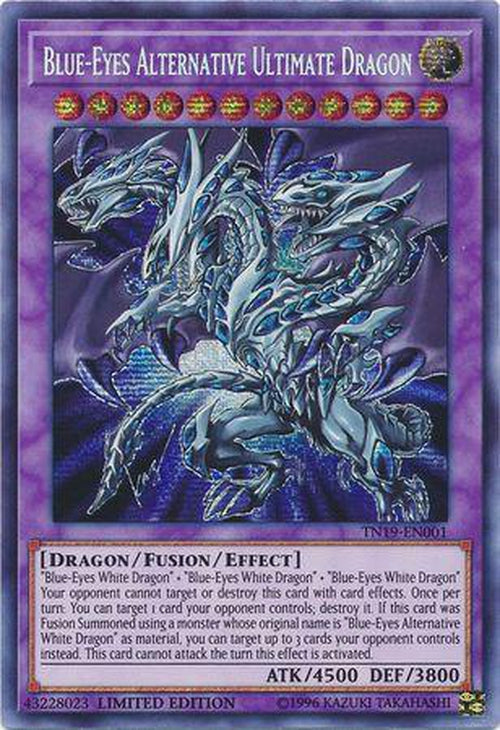 US PRINT Blue-Eyes Alternative Ultimate Dragon - TN19-EN001 - Secret Rare Limited Ed-Cherry Collectables
