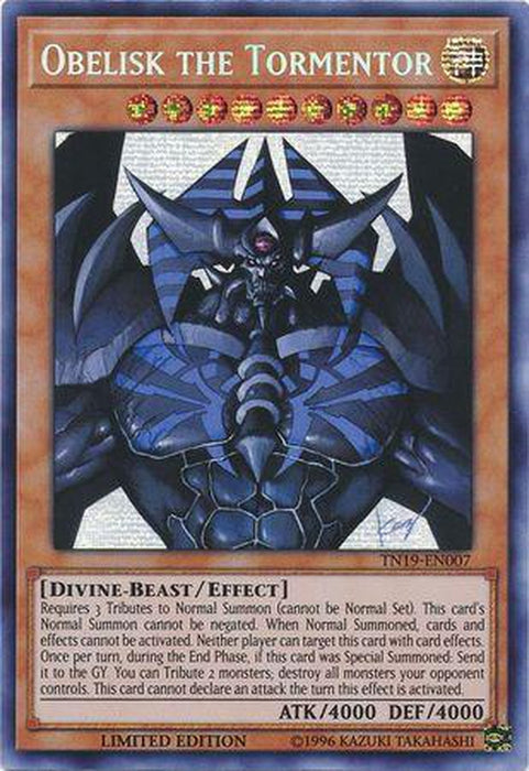 Obelisk the Tormentor - TN19-EN007 - Prismatic Secret Rare Limited Edition-Cherry Collectables