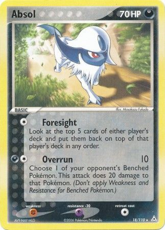 Absol - 18/110 - Rare-Cherry Collectables
