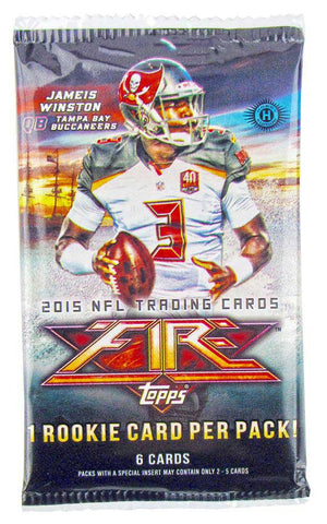 2015 Topps Fire Football Hobby Pack - Cherry Collectables - 1