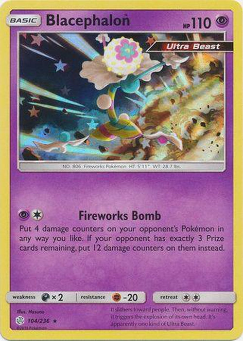 Blacephalon - 104/236 - Holo Rare - Cosmic Eclipse-Cherry Collectables