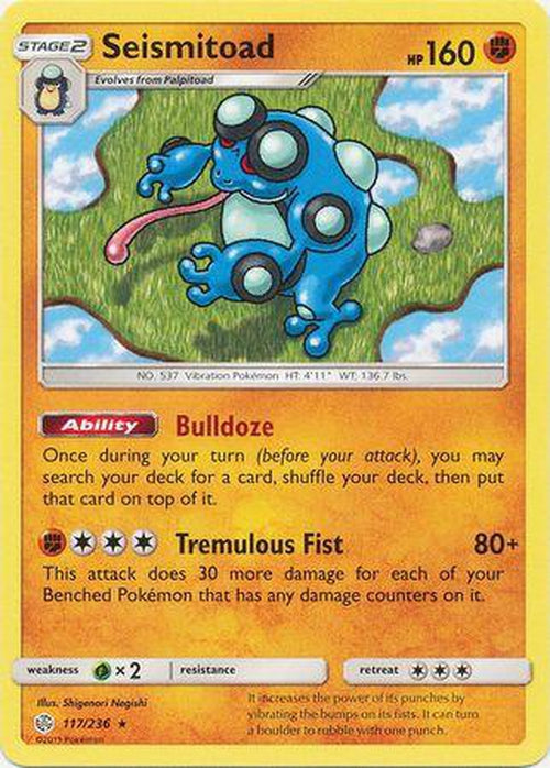 Seismitoad - 117/236 - Rare - Cosmic Eclipse-Cherry Collectables