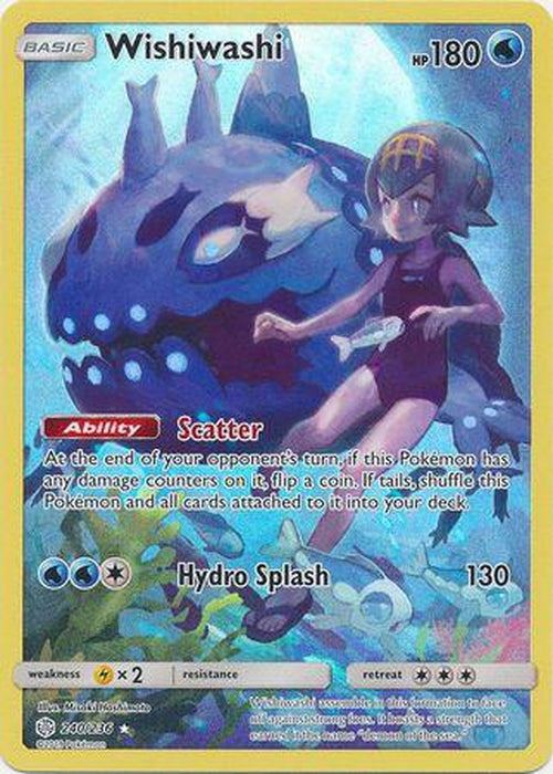 Wishiwashi - 240/236 - Secret Rare - Cosmic Eclipse-Cherry Collectables