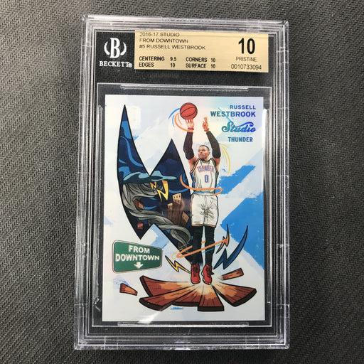2016-17 Studio RUSSELL WESTBROOK From Downtown #5 BGS 10 Pristine-Cherry Collectables