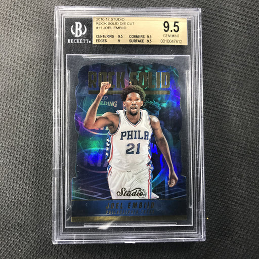 2016-17 Studio JOEL EMBIID Rock Solid Diecut BGS 9.5-Cherry Collectables
