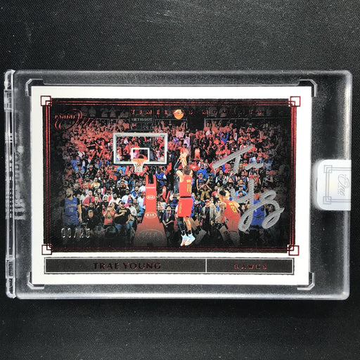 2019-20 One And One TRAE YOUNG Timeless Moments Auto Red 9/25-Cherry Collectables