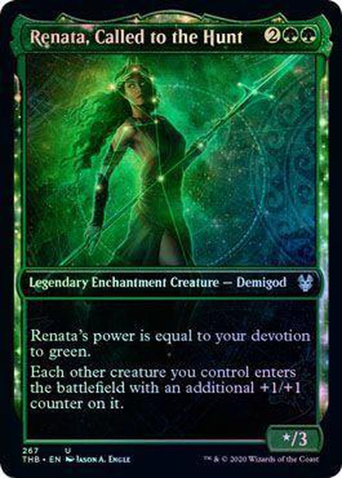 Renata, Called to the Hunt 267/254 - Showcase - FOIL - Theros Beyond Death-Cherry Collectables