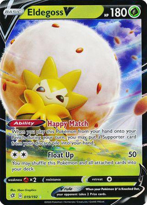 Eldegoss V - 19/192 - Ultra Rare - Rebel Clash-Cherry Collectables