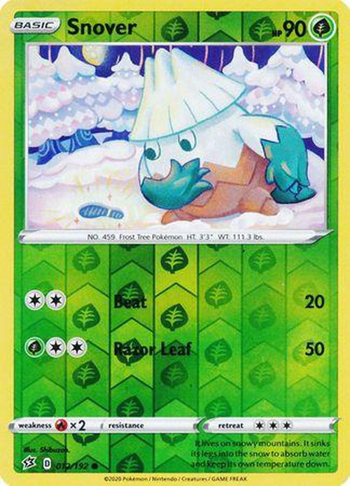 Snover - 12/192 - Common Reverse Holo - Rebel Clash-Cherry Collectables