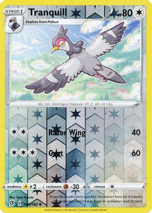 Tranquill - 144/192 - Uncommon Reverse Holo - Rebel Clash-Cherry Collectables