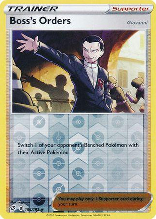 Boss's Orders - 154/192 - Holo Rare Reverse Holo - Rebel Clash-Cherry Collectables