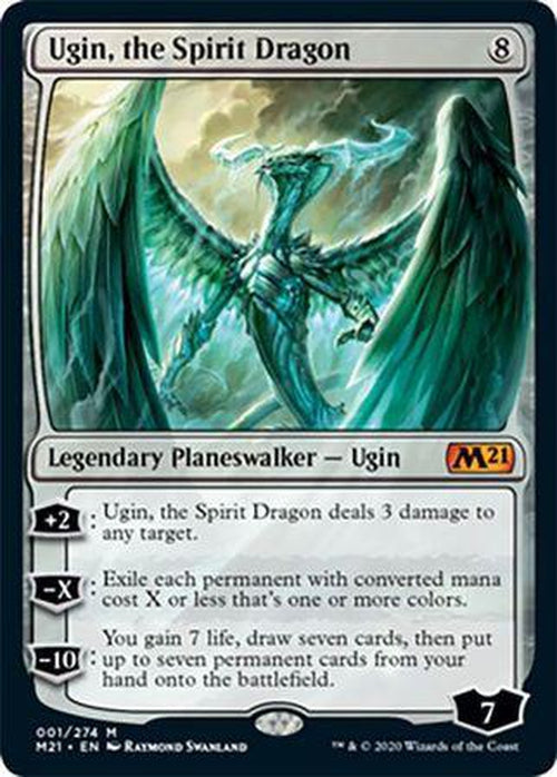 FOIL - Ugin, the Spirit Dragon 001/274 - Core Set 2021-Cherry Collectables