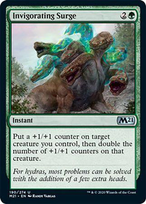 FOIL - Invigorating Surge 190/274 - Core Set 2021 - PLAYSET (4)-Cherry Collectables
