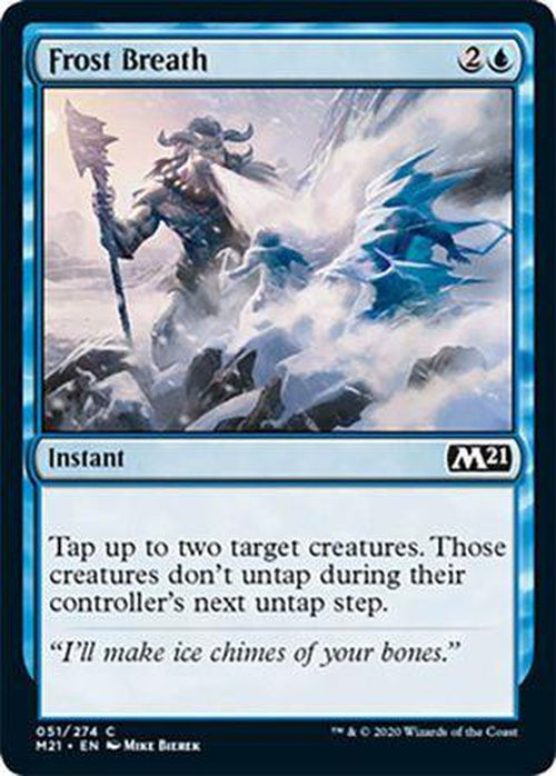 FOIL - Frost Breath 051/274 - Core Set 2021 - PLAYSET (4)-Cherry Collectables