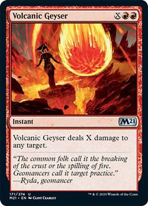 FOIL - Volcanic Geyser 171/274 - Core Set 2021 - PLAYSET (4)-Cherry Collectables