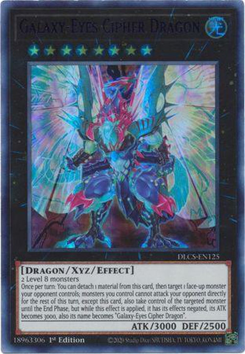PURPLE Galaxy-Eyes Cipher Dragon - DLCS-EN125 - Ultra Rare 1st Edition-Cherry Collectables