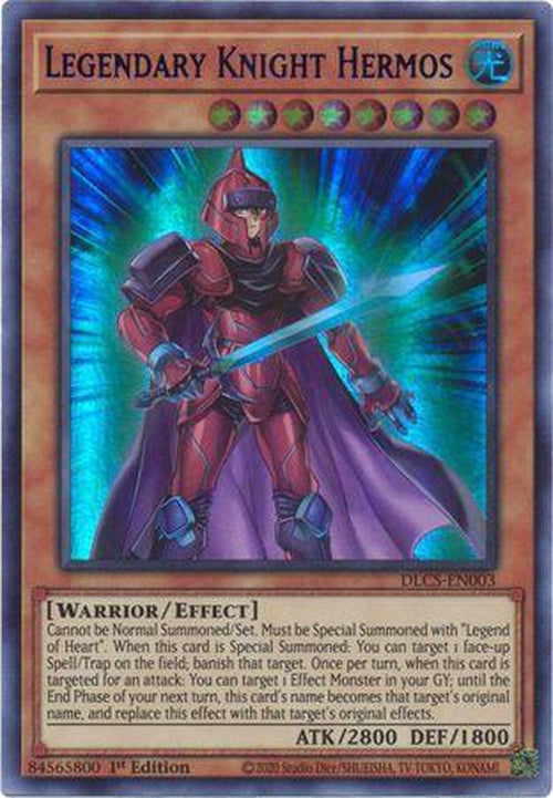 PURPLE Legendary Knight Hermos - DLCS-EN003 - Ultra Rare 1st Edition-Cherry Collectables