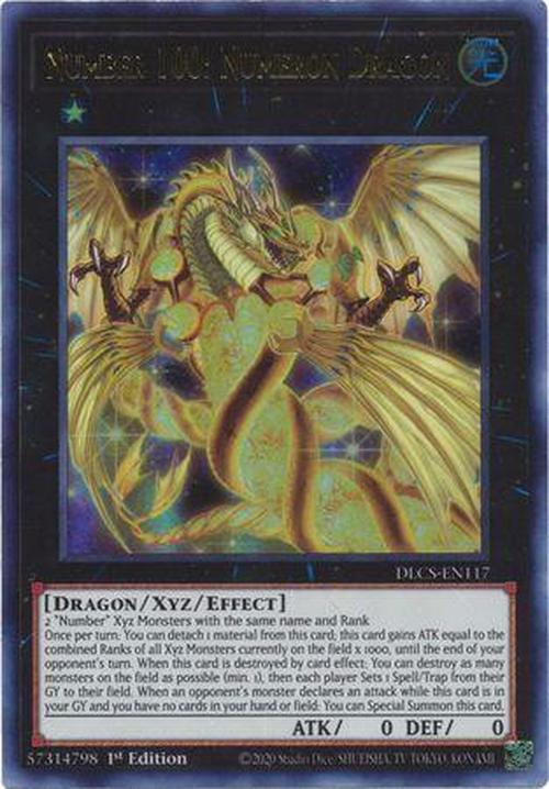 Number 100: Numeron Dragon - DLCS-EN117 - Ultra Rare 1st Edition-Cherry Collectables
