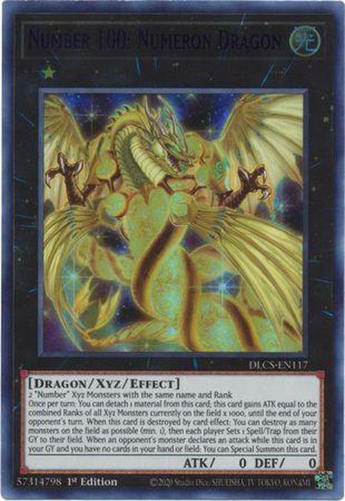 BLUE Number 100: Numeron Dragon - DLCS-EN117 - Ultra Rare 1st Edition-Cherry Collectables