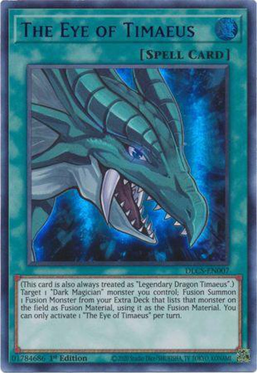 BLUE The Eye of Timaeus - DLCS-EN007 - Ultra Rare 1st Edition-Cherry Collectables