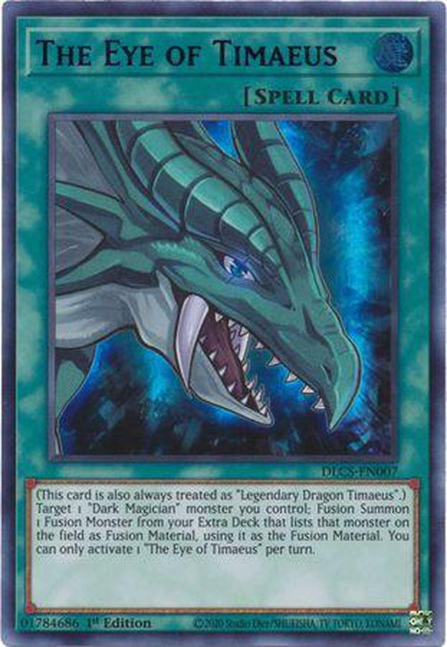 PURPLE The Eye of Timaeus - DLCS-EN007 - Ultra Rare 1st Edition-Cherry Collectables