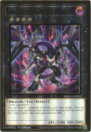 Dark Rebellion Xyz Dragon - MAGO-EN032 - Premium Gold Rare 1st Edition-Cherry Collectables