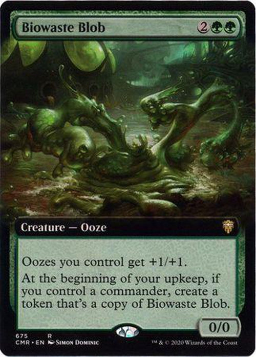EXTENDED ART Biowaste Blob 675 - Commander Legends-Cherry Collectables