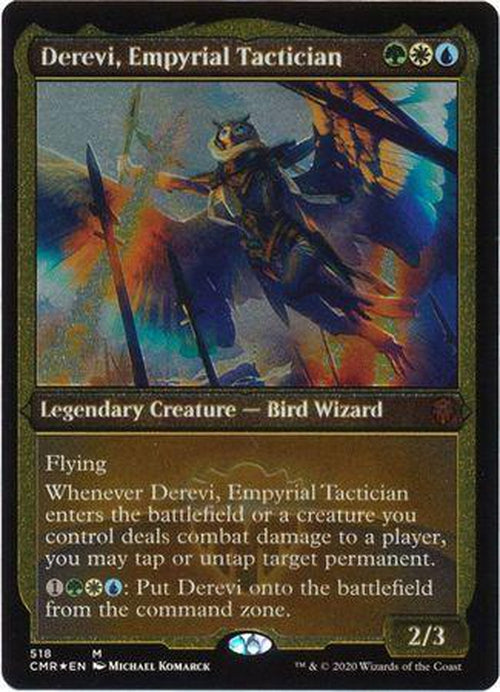 ETCHED FOIL Derevi, Empyrial Tactician 518 - Commander Legends-Cherry Collectables