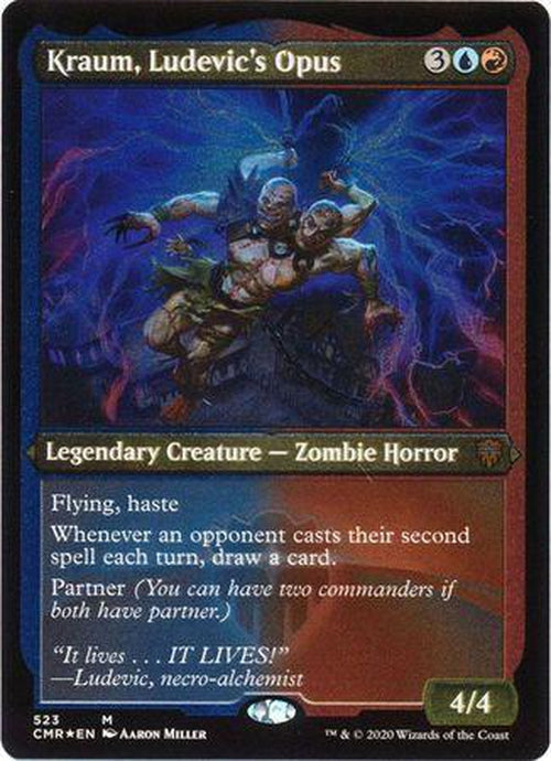 ETCHED FOIL Kraum, Ludevic's Opus 523 - Commander Legends-Cherry Collectables