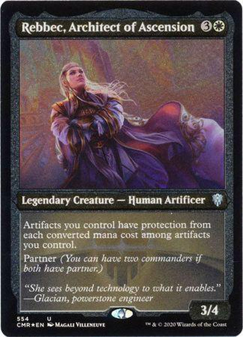 ETCHED FOIL Rebbec, Architect of Ascension 554 - Commander Legends-Cherry Collectables