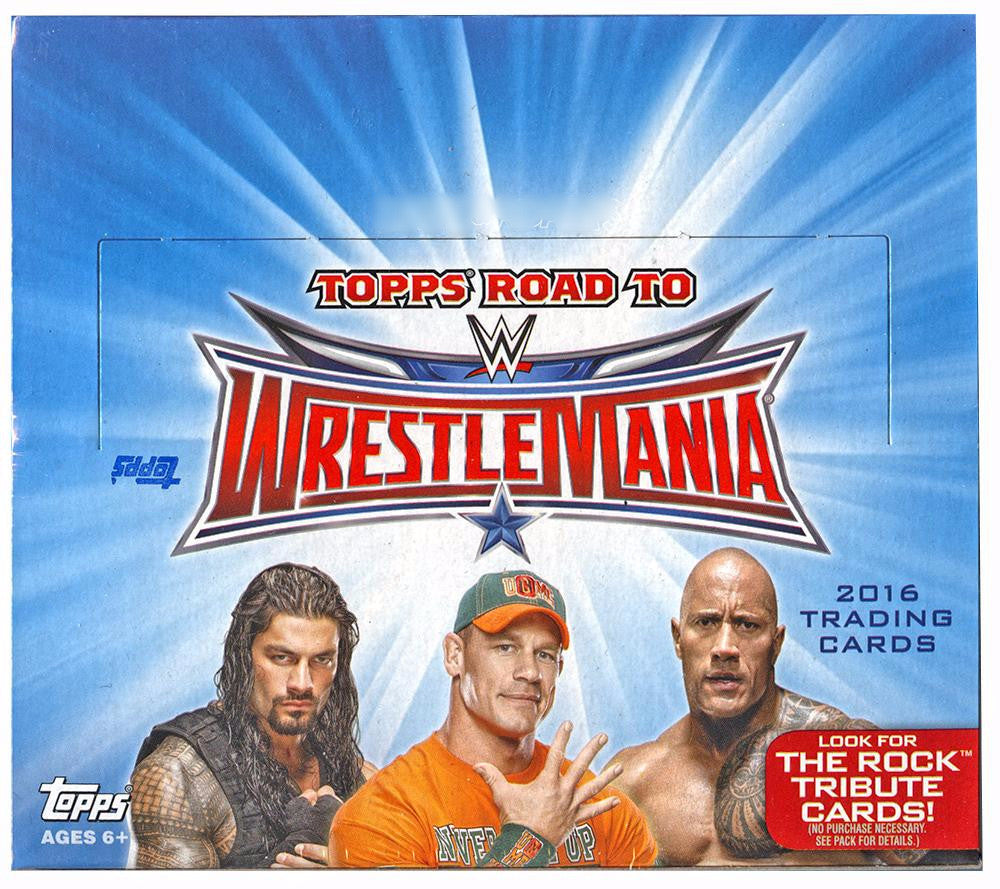 2016 Topps WWE Road To WrestleMania Hobby Box-Cherry Collectables