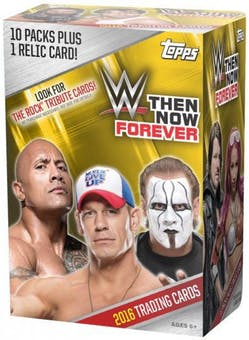 2016 Topps WWE Then, Now, Forever Wrestling 10-Pack Blaster Box-Cherry Collectables