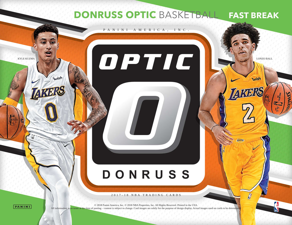2017-18 Donruss Optic Basketball Fast Break Box (Pre Order Apr 4)-Cherry Collectables