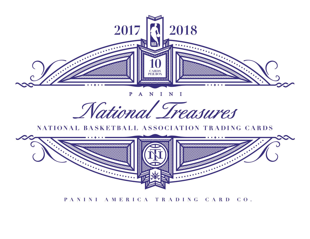 2017-18 Panini National Treasures Basketball Hobby Box (Pre Order Apr 18)-Cherry Collectables