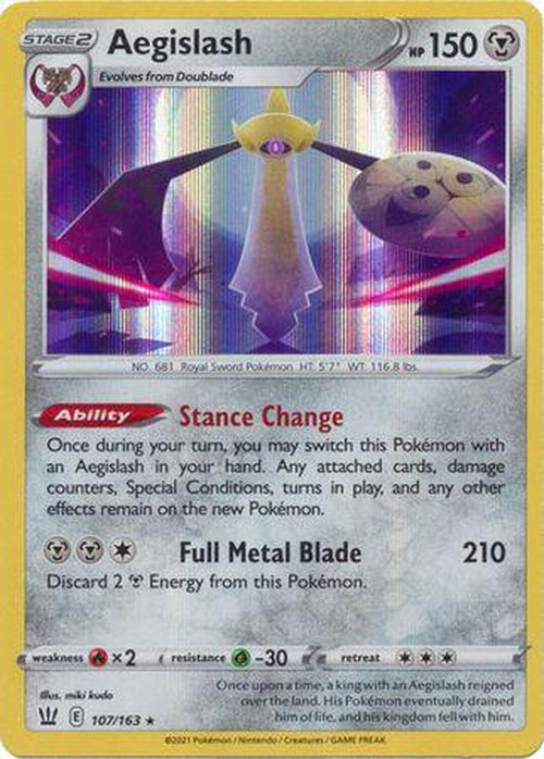 Aegislash - 107/163 - Holo Rare - Battle Styles-Cherry Collectables