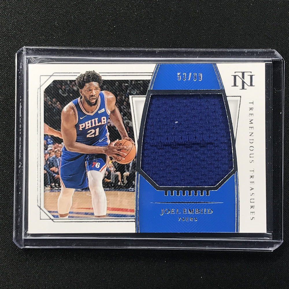 2019-20 National Treasures JOEL EMBIID Tremendous Treasures Jersey 53/99-Cherry Collectables