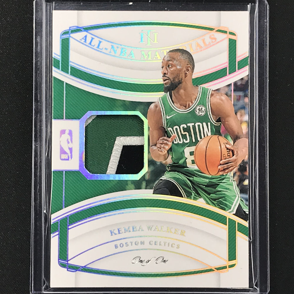 2019-20 National Treasures KEMBA WALKER All NBA Materials Patch 1/1-Cherry Collectables