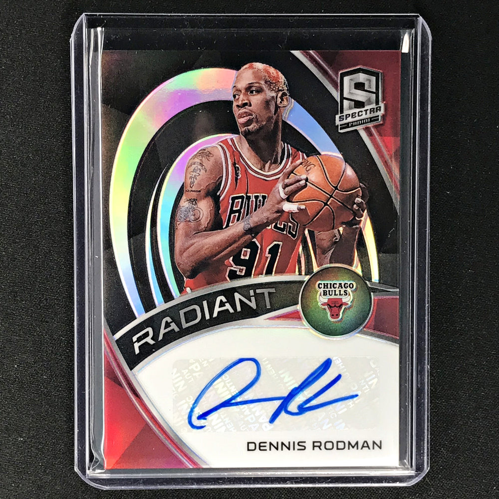 2019-20 Spectra DENNIS RODMAN Radiant Silver Auto 77/99-Cherry Collectables