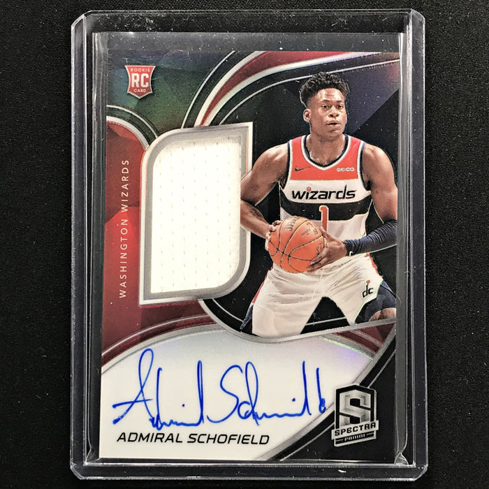 2019-20 Spectra ADMIRAL SCHOFIELD Rookie Patch Auto Silver 90/149-Cherry Collectables