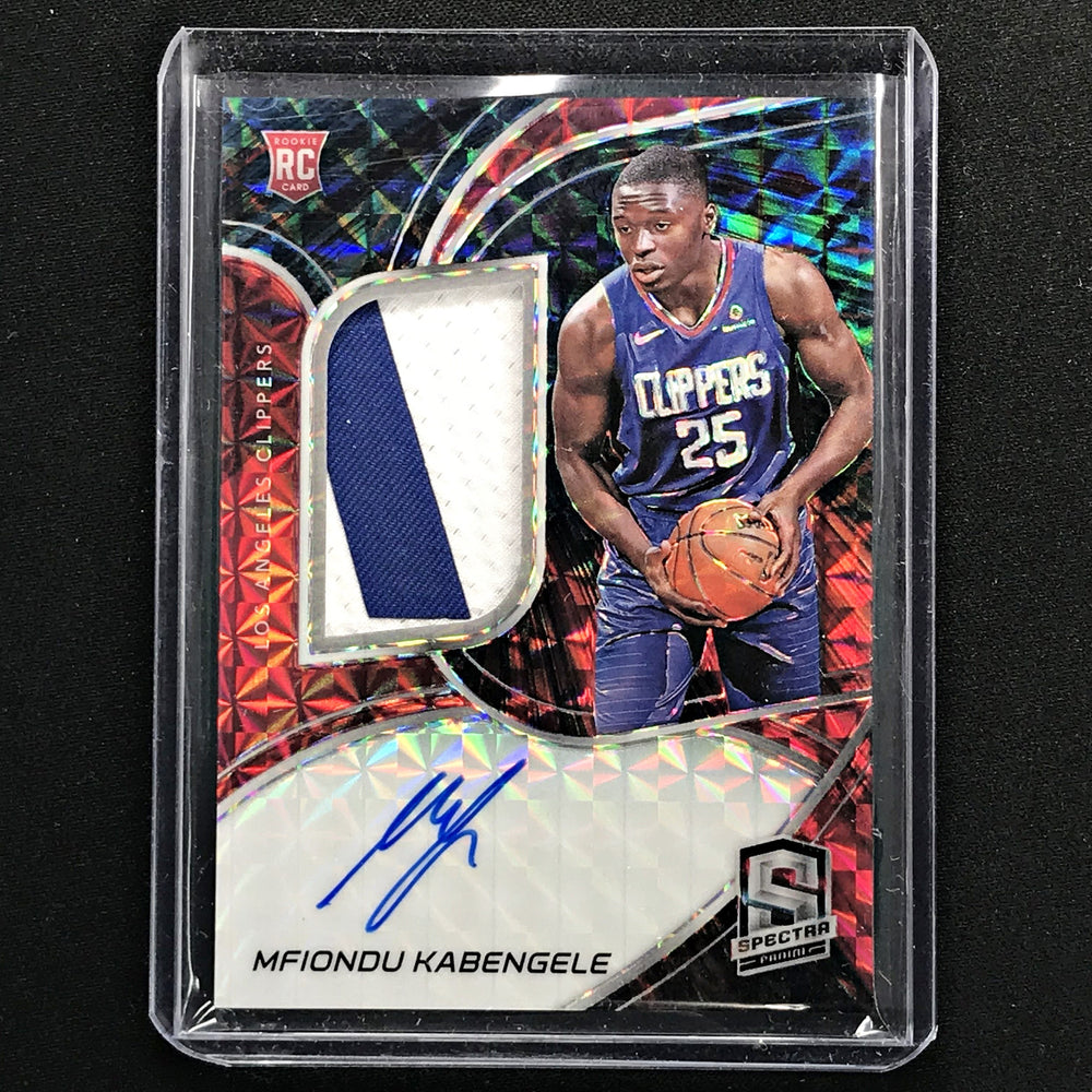 2019-20 Spectra MFIONDU KABENGELE Rookie Patch Auto 9/49-Cherry Collectables