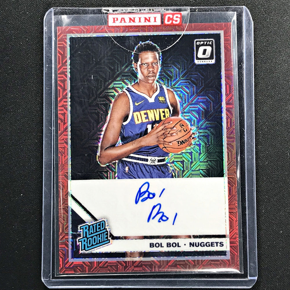2019-20 Optic BOL BOL Rated Rookie Choice Red Auto #162 (B)-Cherry Collectables