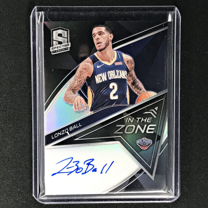 2019-20 Spectra LONZO BALL In The Zone Silver Auto 1/49-Cherry Collectables