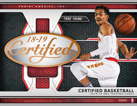 2018-19 Panini Certified Basketball Hobby Box (Pre Order Nov 14)-Cherry Collectables