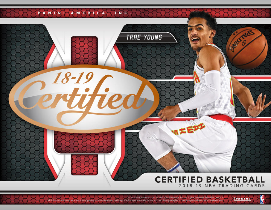2018-19 Panini Certified Basketball Hobby Box-Cherry Collectables