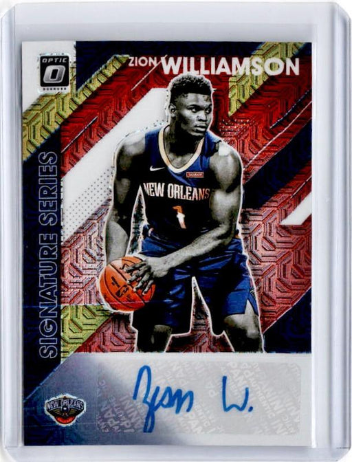 2019-20 Optic ZION WILLIAMSON Choice Signature Series Rookie Auto #ZWL-Cherry Collectables