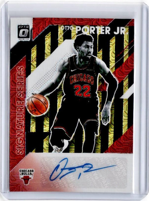 2019-20 Optic OTTO PORTER JR Black Gold Choice Signature Series Auto 5/8-Cherry Collectables