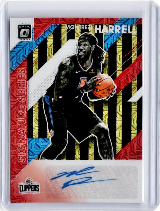 2019-20 Optic MONTREZL HARRELL Black Gold Choice Signature Series Auto 4/8-Cherry Collectables