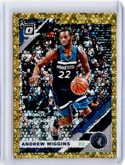 2019-20 Optic Fast Break ANDREW WIGGINS Gold Prizm 10/10-Cherry Collectables